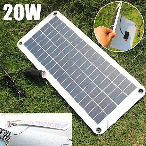Suppyfly 20W Solar Panel 12V zu 5V Ladegerät USB für Auto Boot Caravan Netzteil