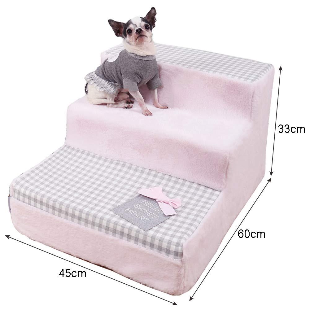 LXLA - escalera para perros de pequeño a Mediano, Mascotas, 3 ...