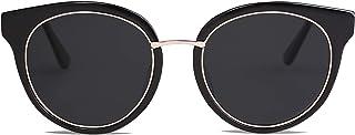 SOJOS Polarized Lens Round Mens Womens Sunglasses Metal Frame MOMENT SJ1110