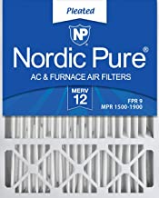 Nordic Pure 20x25x5 (4-3/8 Actual Depth) Lennox X6673 Replacement AC Furnace Air Filter, MERV 12, 4 Pack