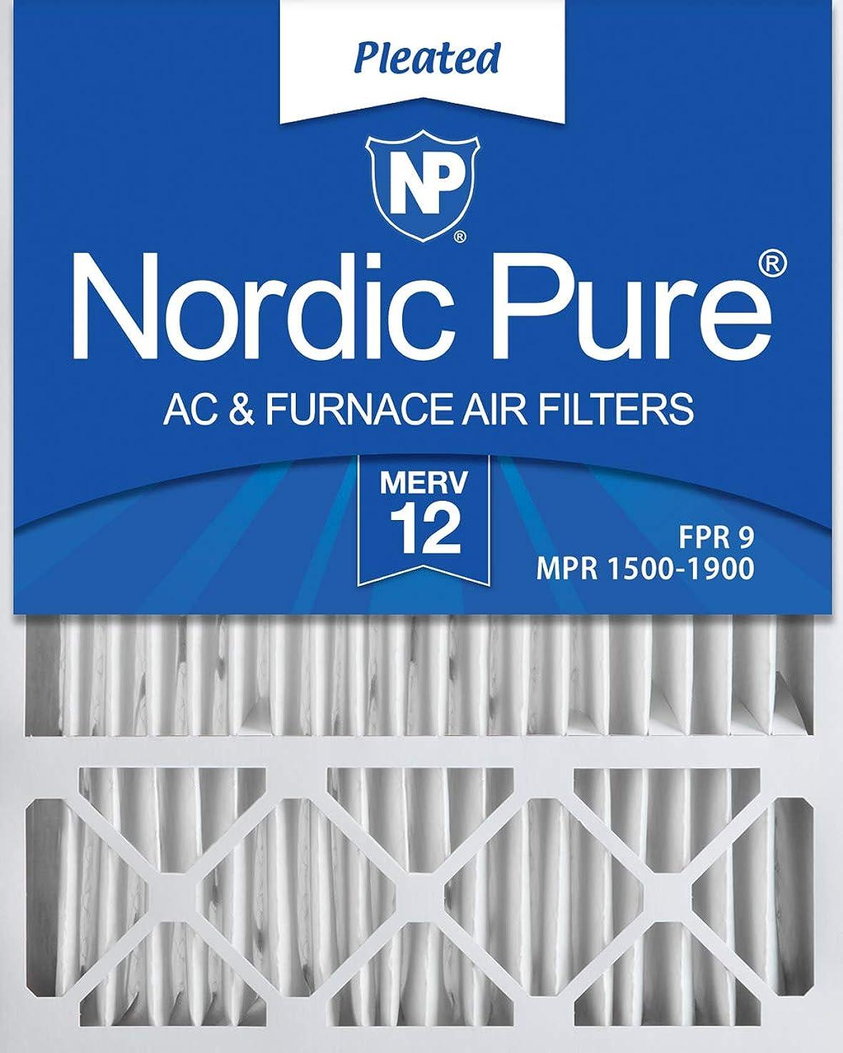 Nordic Pure 20x25x5 (4-3/8 Actual Depth) MERV 12 Lennox X6673 Replacement AC Furnace Air Filter, Box of 1