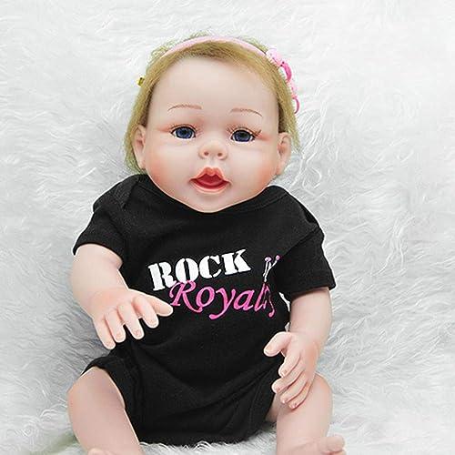 Hongge Reborn Baby Doll,Simulation Baby Silikon Reborn Puppe Haut Wie Neugeborene Wiedergeburt Babypuppe 52cm