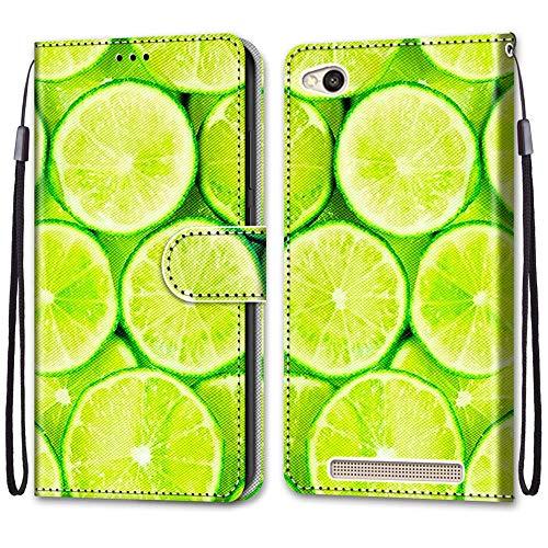 i-Hülle Handy Schutzhülle Kompatibel für Redmi 4A Handyhülle Phone Hülles PU Lederhülle Brieftasche BookStyle Etui Handytasche Wallet Kartenfach Flip Tasche für Xiaomi Redmi 4A 5.0-Zoll,Limette