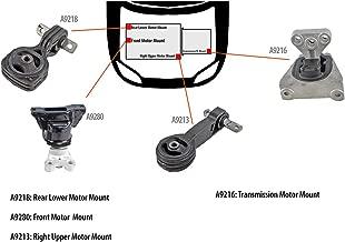 DNJ MMK1038 Complete Engine Motor & Transmission Mount Kit for 2006-2010 / Honda/Civic / 1.8L