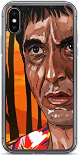 iPhone XR Case Anti-Scratch Motion Picture Transparent Cases Cover Scarface Classic Movies Video Film Crystal Clear
