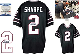 Signed Sterling Sharpe Jersey - Black Beckett - Beckett Authentication - Autographed NFL Jerseys