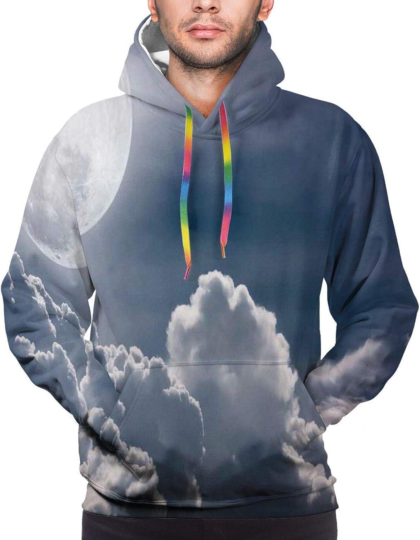 Men's Hoodies Sweatshirts,Celestial Love My Other Half Floating Never Let Go Valentines Concept