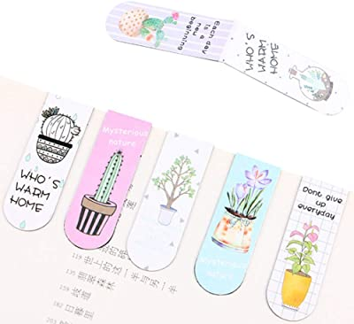 30 Pieces Magnetic Plant Bookmarks,Cute Floral Magnet Page Markers Assorted Page Clips Book Mark Book Holder for Kids Childrens Students Gift