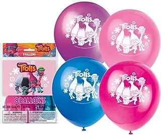 Trolls 12 Latex Printed Balloons 8ct.