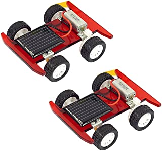 Perfeclan 2pcs DIY Solar Power Car Toy Science Physics Electrical Education Discovery