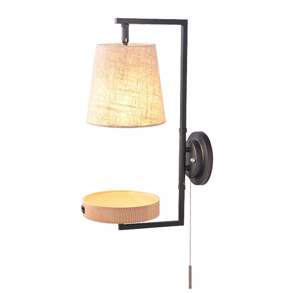 効果的に接辞浜辺ラオハオ 北欧の無垢材の壁ランプの壁取り付け用燭台、現代USBの創造的な壁のランタンのベッドサイドの寝室の壁ライト居間の調査の据え付け品居間の寝室の廊下のための装飾的な壁ランプ ウォールウォッシャー (Design : A)