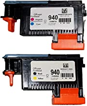 Wolfgray 2 Pack HP940XL 940 Printhead for HP Officejet Pro 8000 8500 Hp 940 Print Head C4900A C4901A for HP Officejet Pro 8000 8500 8500A 8500A Plus 8500A