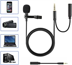 Homics Lavalier Lapel Microphone Professional Grade Mic with Easy Clip On System Perfect for Recording YouTube, Interview, Video Conference, Podcast and Voice Dictation