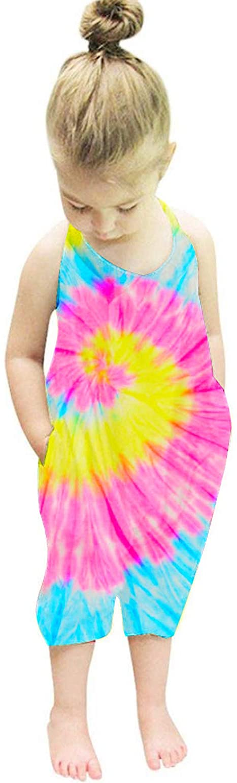 Nirovien Toddler Girls Jumpsuit Popular Tie Dye G Max 41% OFF Romper Harem for Strap