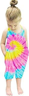Toddler Girls Jumpsuit Tie Dye Harem Strap Romper for...
