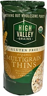 Organic Multigrain Gluten Free Rice Cakes 4.23 oz (Pack of 6). Also available in 12 pack. NOTHING BUT WHOLESOME PURITY.