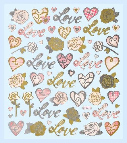 Hobby Design Sticker * Love - Liebe - Herzen Valentinstag * Aufkleber