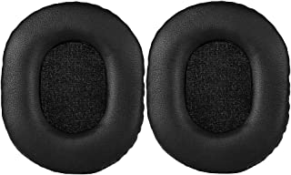 Replacement Earpads Ear Pad Foam Cushion Cover Repair Parts for Audio-Technica ATH-M50x, ATH-M40X, ATH-M30, ATH-M50, ATH-M50s Professional Studio Headphones(Black)