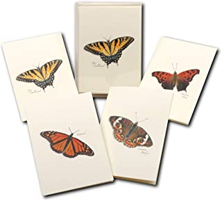 Earth Sky + Water - Butterfly Assortment Notecard Set - 8 Blank Cards with Envelopes (2 each of 4 styles)