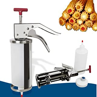 Churreras Churros Filler Maker Machine - 1L Manual Spanish Donuts Dessert Churro Makers