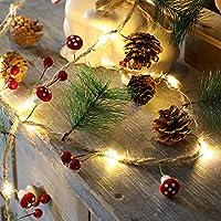 導かれたひもライト、鐘、松葉および松ぼっくり銅線ライト、クリスマス装飾ライト、クリスマスライト、ライトポスト,style3
