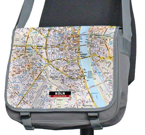 Köln - Kurier-Tasche mit Stadtplan