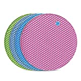 flintronic Sottopentola Silicone Set di 4, Presine in Silicone da Cucina Forma di Alveare,...