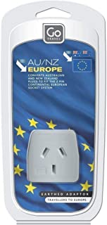 Go-Travel European Adaptor, White, 098