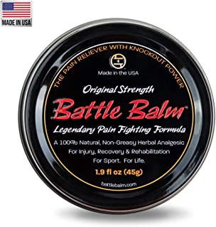 Original Strength Pain Relief (1.9-Ounce) - Battle Balm | All-Natural and Organic Topical Analgesic for Arthritis, Muscle Soreness, Sprains, Strains and More.