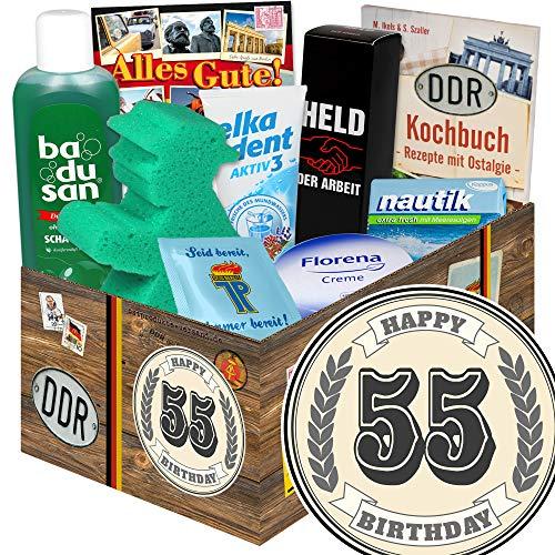 55 Geburtstagsgeschenke / Geschenke 55 Geburtstag Männer / DDR Pflege Set DDR