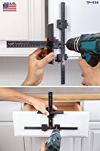The Original Cabinet Hardware Jig Tool - Drill Template Guide for Door and Drawer Handle + Knob + Pull Installation - TP-1934 by True Position Tools