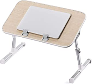 Laptop Desk Table for Bed, TaoTronics Lap Desks Bed Trays for Eating and Laptops Stand Lap Table, Adjustable Computer Tray for Bed, Foldable Bed Desk for Laptop and Writing in Sofa Couch