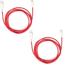 2 Pcs 6.5ft (2 Meter) Data and Charging Cord USB Power Cable for Fuhu Nabi Jr and XD Tablets, Nabi DreamTab DMTab Touch Screen HD 8