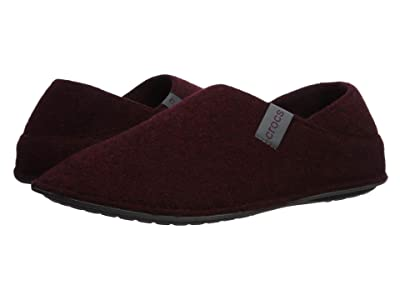 Crocs Classic Convertible Slipper (Burgundy/Charcoal) Shoes