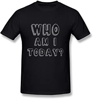 FANGSHUN Who Am I Tee Shirts for Man Black