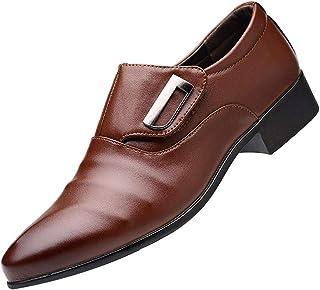 HLIYY Homme Smart Chaussures à Enfiler Cuir Véritable Double Sangle de Moine Chaussure Officiel Business Loafers Oxfords M...