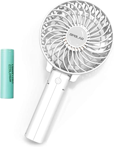 OPOLAR Small Hand Held Battery Operated USB Fan, Personal Portable Rechargeable Fan with 2200mAh Battery and 3 Settin...