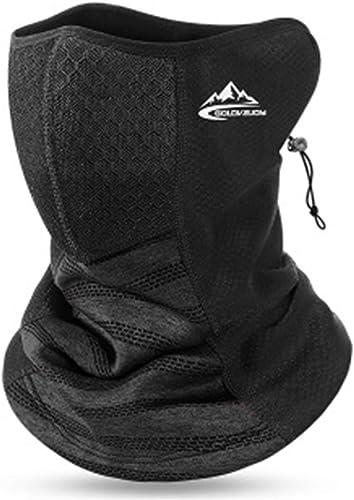 new arrival Fleece Neck Gaiter for Men Face Bandana Mask with Filter Pocket online sale Windproof Half Face Scarf for Outdoor Cycling Biking 2021 Skidding online
