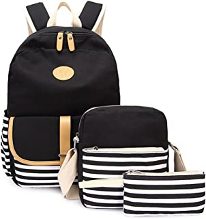 Causal Travel Canvas Rucksack Backpacks for Girls School Bookbags