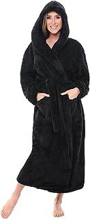 Alexander Del Rossa Women's Warm Fleece Robe with Hood, Long Plush Bathrobe