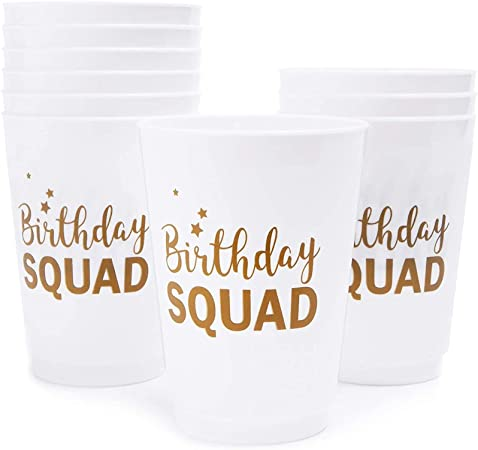 Birthday Squad Plastic Party Cups