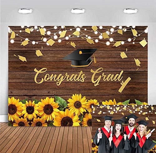 DANIU ukończenie szkoły tło fotografia słoneczniki kwiatowy kapelusz kawalerski tło zdjęcia 2021 klasa świętowanie studniówka impreza baner dekoracje rekwizyty 2021