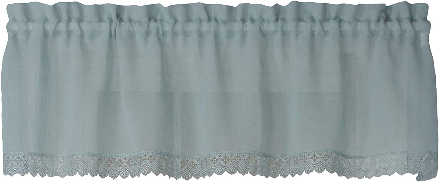 Curtain Chic Flanders 56 Inches Wide x 14 Inches Long Polyester Valance Curtain, Mist