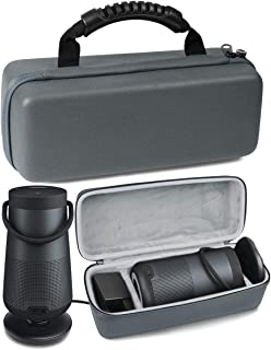 Matte Grat Protetive Case for Bose SoundLink Revolve and Revolve+ Bluetooth Speaker by WGear, Customized compartments Also...