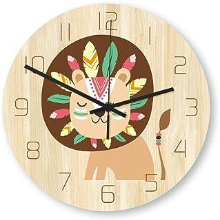 Zacheril Reloj De Pared De Números Reloj de Pared de Silencio Patrón Reloj de Pared de Cuarzo Reloj de Pared Creativo de L...