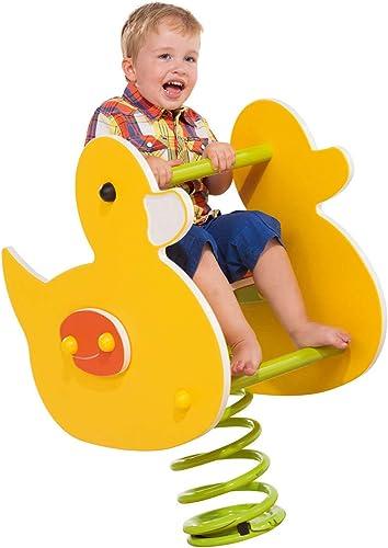 Federtier Ente gelb für den  entlichen Bereich Spielpl e DIN EN1176 Schaukelpferd Wipppferd TüV geprüft
