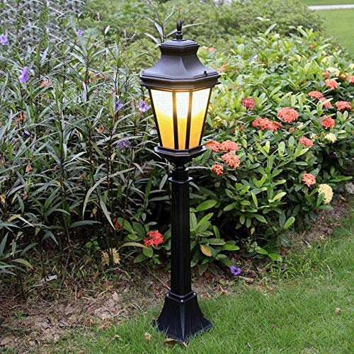 Beautiful home lighting/zwart IP44 tuin lamp paal-pollenlamp E27 decoratie straatlantaarn gazon Villa lamp LED gegoten aluminium solar-lampen paallicht met bloembak voor O