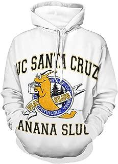 SunWeiguan UC Santa Cruz Banana Slugs Unisex Hoodies Long Sleeve Fleece Pullover Hoodie Sweatshirts Retro Printed Hoodie