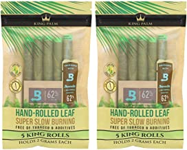 Organic Pre Rolls, Tobacco & Chemical Free, Super Slow Burning, 100% Real Palm Leaf, Just Fill It (10 Kings)