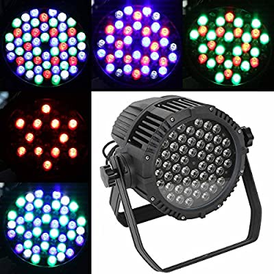 Tengchang 6 in 1 RGBWA UV LED DJ Par Light DMX Stage Lighting Waterproof PAR64 for Party DJ KTV Disco Concert Wedding